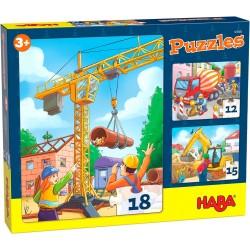 Puzzels Bouwvoertuigen
